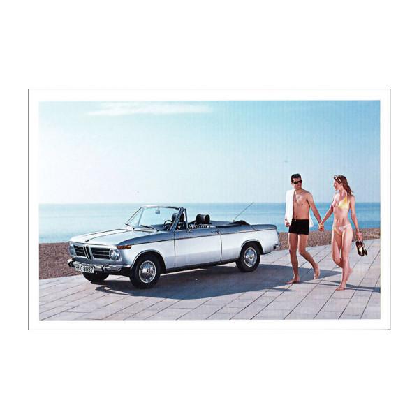 Postkarte BMW 1600 Cabriolet