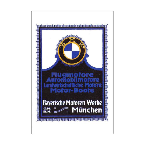 Postkarte BMW - Werbemotiv für BMW Motoren 1918